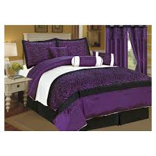 Black And White Zebra Curtains For Bedroom Purple And Black Bedding Sets For Inviting Design Ideas