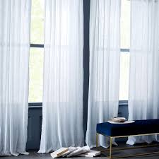 White And Teal Curtains Sheer Crosshatch Curtains Set Of 2 White West Elm