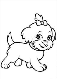 puppy coloring pages best for kids with cute diaet me