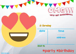 birthday invitation template printable free printable emoji invitation template drevio invitations design