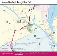New York State Map With Cities And Towns by Appalachian Trail Driving Route Road Trip Usa
