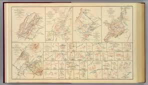 Confederate States Map by Winchester Cedar Run Port Republic Va David Rumsey