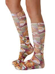 thanksgiving socks thanksgiving dinner knee high socks living royal