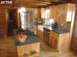 Log Cabin Kitchen Ideas Kitchen On Kitchen Cabins Barrowdems