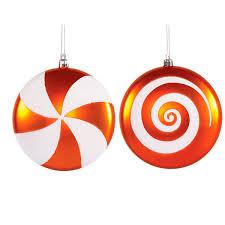orange swirl ornaments 4 75 inch 4 box