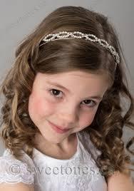 rhinestone headband flower girl or communion veil accessories communion