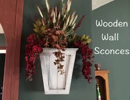 Diy Wall Sconce Diy Wooden Wall Sconces Wilker Do U0027s