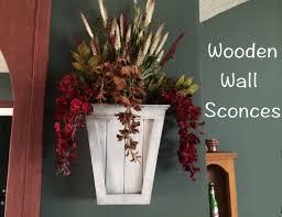 Flower Wall Sconces Diy Wooden Wall Sconces Wilker Do U0027s