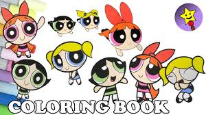 powerpuff girls coloring book pages compilation 8 buttercup