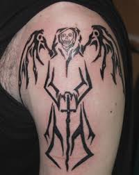 angel of death tattoo designs on shoulder photo 1 photo