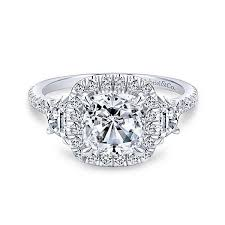 engagement rings cushion cut 14k white gold cushion cut 3 stones halo engagement ring anfesas