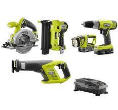 home depot black friday deals riobi tools 5 tool kit ryobi p1882 one 18v cordless combo kit w brad nailer