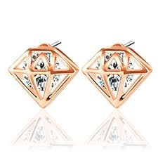 stainless steel earrings hypoallergenic uhibros diamond shaped earrings unisex hypoallergenic