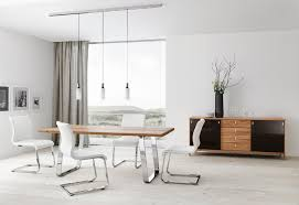 Modern Kitchen Table Lighting Dining Room Modern Dining Table Chrome White Chairs Track