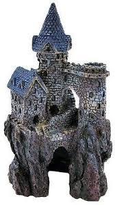 aquarium rock castle hiding cave landscape decor ornament fish tank