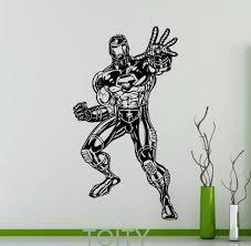 online get cheap decal vinyl sticker iron man aliexpress com iron man wall sticker dc marvel comics movie poster superhero vinyl decal home interior decoration teen