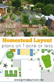 layout land homestead layout plans on 1 acre or less homestead layout