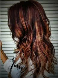 Red Hair Color With Highlights Pictures Chocholate Blonde Hair With Red Highlights Women Medium Haircut