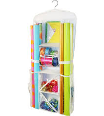 wrapping paper storage large in gift wrap organizers