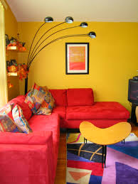 living room ideas elegant tan couch feat red and yellow