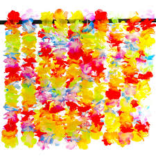 flower leis 20 pcs hawaiian multicolor party flower decoration