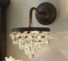 pottery barn lighting sconces callia crystal sconce pottery barn for interior decorator