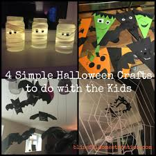 4 simple halloween crafts to do with the kids blissful domestication