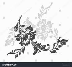 flower design sketch patternlace edge stock vector 263469029