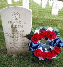 white and blue wreath for veterans
