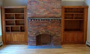 Bookshelves Cherry - fireplace surround cherry bookcases built in