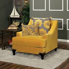 Gold Fabric Sofa Sm2201 Sofa In Gold Tone Fabric W Options