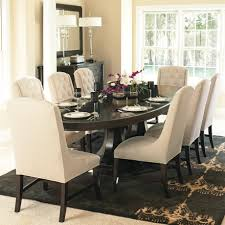 Dining Room Tables With Upholstered Chairs Kilimanjaro Seven - Cushioned dining room chairs