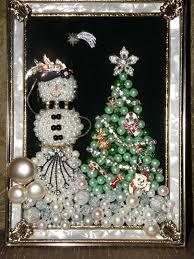 shiny brite vintage christmas ornaments shadow box wreath diorama