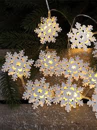 snowflake lights buy 10 led battery operated metal snowflake christmas lights