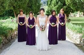 purple dress bridesmaid 10 purple convertable bridesmaid dress set wrap dresses for