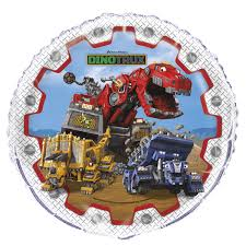 monster truck jam party supplies dinotrux 18 inch foil balloon walmart com