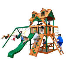 Wooden Backyard Playsets Backyard Discovery Prestige All Cedar Wood Playset Pics On