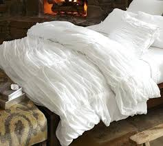 hadley ruched duvet cover sham white pottery barn pretty sure our
