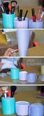 diy life hacks u0026 crafts use jars to tidy makeup easy spring