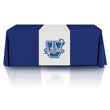 8 ft table cloth with logo 6ft 8ft table throws with logo trade show tablecloths custom for