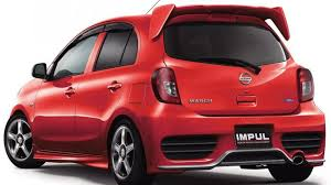 nissan micra convertible pink japanese tuner impul releases beefed up nissan micra march
