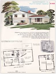 bi level floor plans with attached garage 1955 split level house plans luxihome