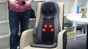 Homedics Chair Back Massager Naipo Full Back Massage Seat Cushion With Heat Mgm C11c Youtube