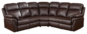 frankfurt sectional sofa with 2 recliners traditional