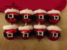 glitter santa ornaments with felt belts foil buckles my