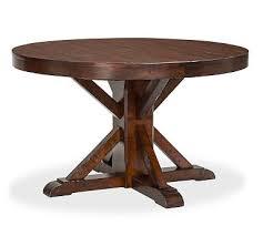 round dark wood pedestal dining table round pedestal dining table pottery barn