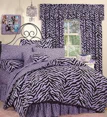 Zebra Bed Set Size Black Purple Zebra Print Bed In A Bag Set Bed