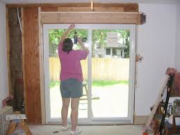 How To Install A Sliding Patio Door Charming Installing Sliding Glass Door Innovative Installing A