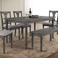 Acme Furniture Wallace Weathered Gray Dining Table From Hayneedle