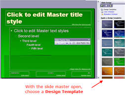 custom design templates and powerpoint master slides